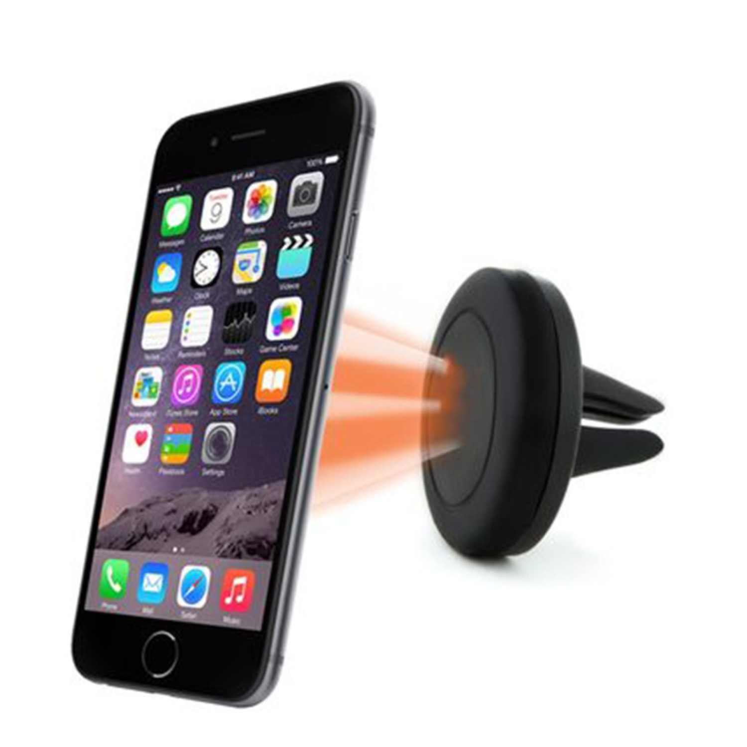 iPhone Car Air Vent Cell Phone Mount Holder Suitable for Samsung BlackBerry and Microsoft etc. LG Blue Universal 360 Rotatable Smartphone Mount Holder