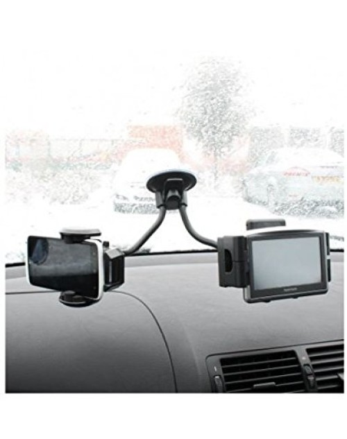 Dual Universal Windscreen Mount Car Holder for All Smartphone,PDA,GPS