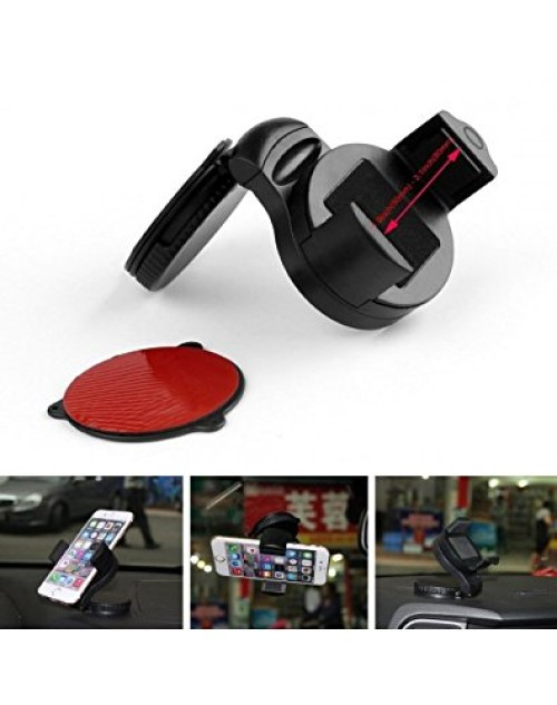 New Universal Stick Anywhere Mobile Phone Car Windscreen/Dash Mount Cradle Mobile Phone Car Holder, Rotate & Lock to Windscreen- Fits all Mobile and Smart phones up to 8.5cm wide.