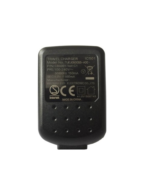 Alcatel TUEU050055-A00 Universal USB Plug 5V 550mA Travel Charger Black