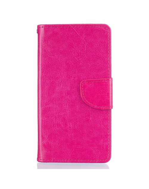 Huawei P9 LITE Pu Leather Wallet Folio Case with Credit Cards Slots and Adjustable Positioning Stand-Pink