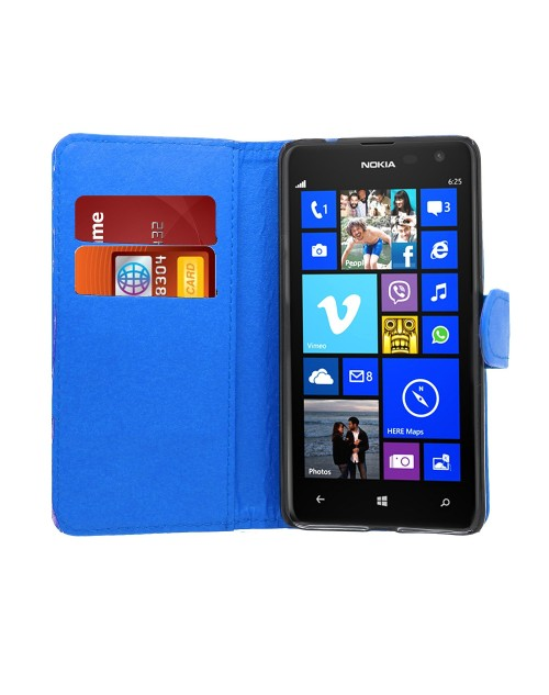 Microsoft Lumia 640 Glitter  Pu Leather Book Style Wallet Case with free  Stylus-Light Blue