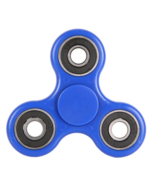 New Blue Tri-Spinner Fidgets Toy Plastic EDC Sensory Fidget Spinner for Autism and ADHD Kids/Adult Funny Anti Stress Toys