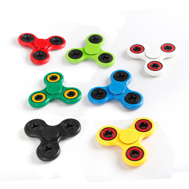 New Blue Tri Spinner Fid s Toy Plastic EDC Sensory Fid