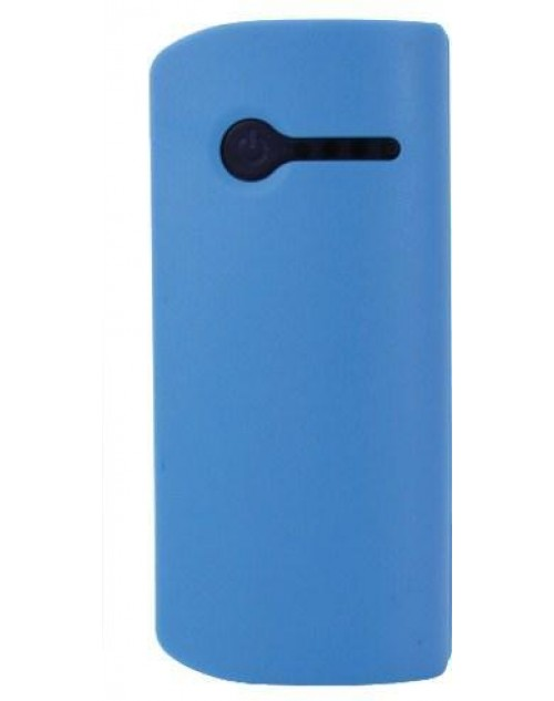 Plus One 2600mAh Portable Powerbank Blue with Built in Light