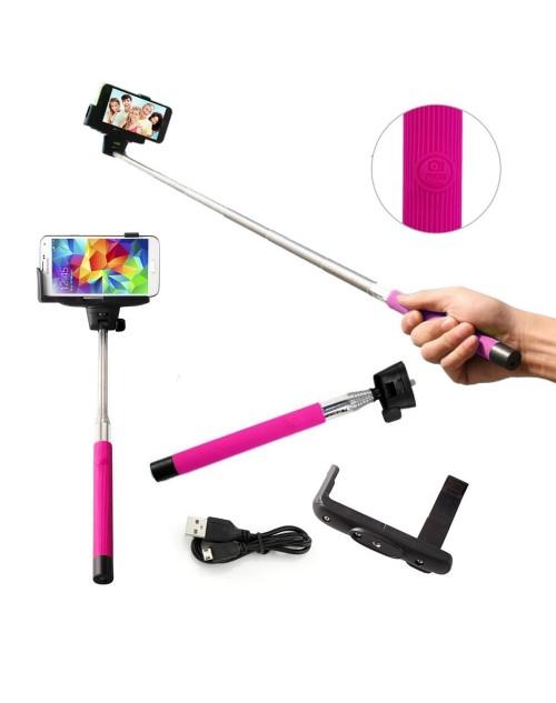 Selfie Stick, Monopod Selfie Stick inbuilt Bluetooh Button & Mobile Phone Holder