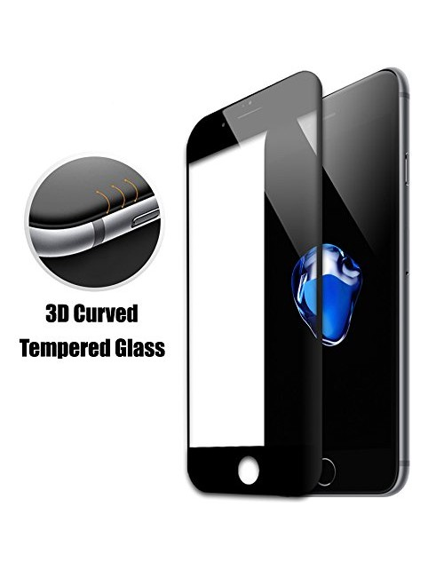 iPhone 6S Screen Protector, 3D Full Coverage High Clear Premium Tempered Glass for Apple iPhone 6S Plus, Easy and Bubble Free Installation (iPhone 6S, Black)