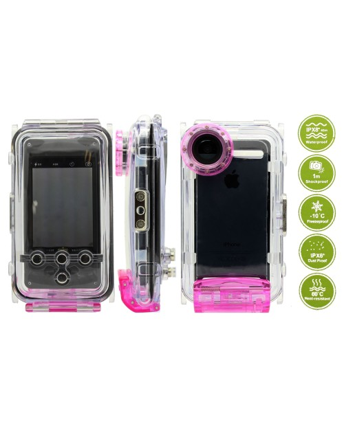 IPX8 Waterproof Protective Shell Case Photo Housing 40m/130ft Rated Underwater Case for iPhone 5s 5 5c