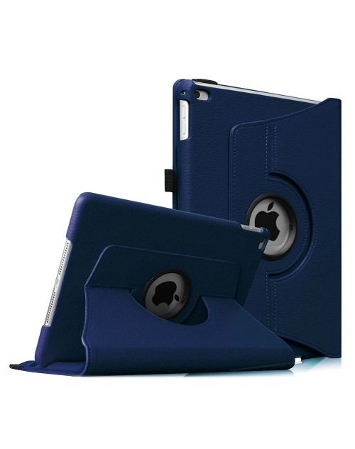 Apple iPad 2/3/4 360 Rotaing Pu Leather with Viewing Stand Plus Free Stylus Case Cover for Apple iPad 2-Blue