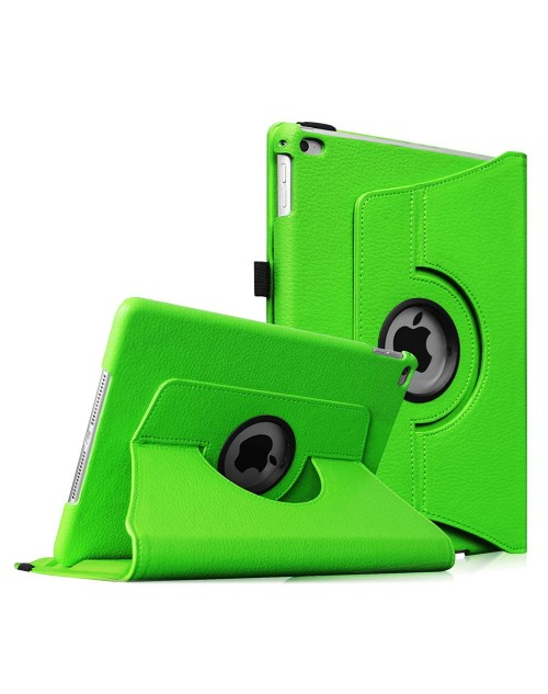 Apple iPad 2/3/4 360 Rotaing Pu Leather with Viewing Stand Plus Free Stylus Case Cover -Green