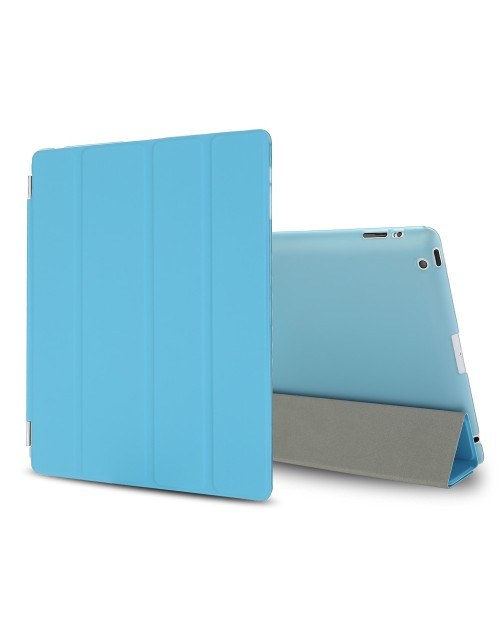 iPad Mini Case, iPad Mini 2 / Mini 3 Case,iPad Mini Smart Case Cover [Synthetic Leather] and Translucent Frosted Back Magnetic Cover with Sleep / Wake Function [Ultra Slim] [Light Weight] for Apple iPad Mini 1/2/3-Blue