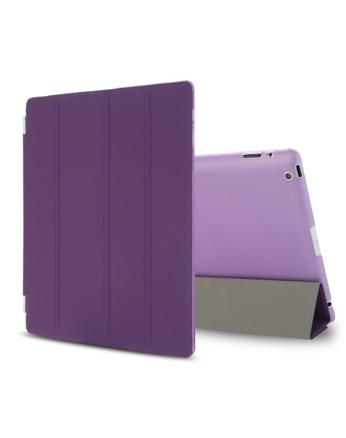 iPad Mini Case, iPad Mini 2 / Mini 3 Case,iPad Mini Smart Case Cover [Synthetic Leather] and Translucent Frosted Back Magnetic Cover with Sleep / Wake Function [Ultra Slim] [Light Weight] for Apple iPad Mini 1/2/3-Purple