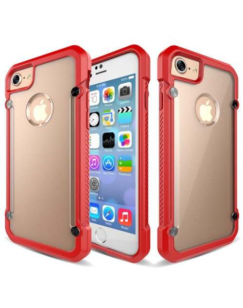 SUPCASE Armor Hard Phone Case For iPhone 6 Cover Clear Matte Back Shockproof Soft TPU Bumper Protective Case-Red
