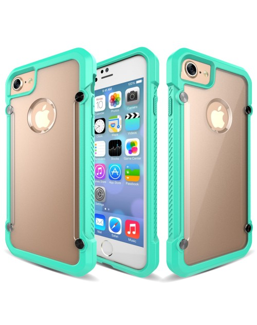 SUPCASE Armor Hard Phone Case For iPhone 7 Cover Clear Matte Back Shockproof Soft TPU Bumper Protective Case-Green