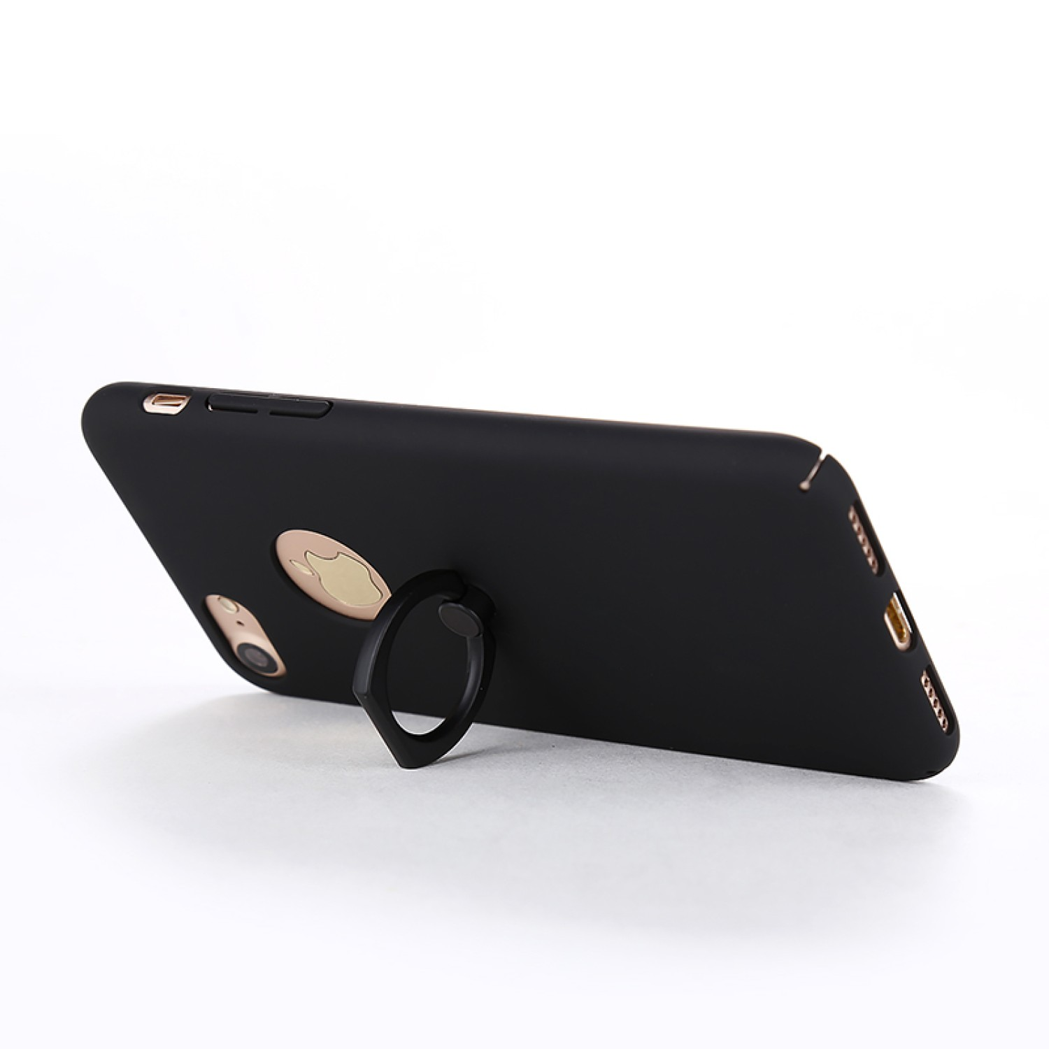 promo code 43392 0a354 Rubberized Finger Ring Hard PC Case for iPhone 7 -Gold - Rubberized ...