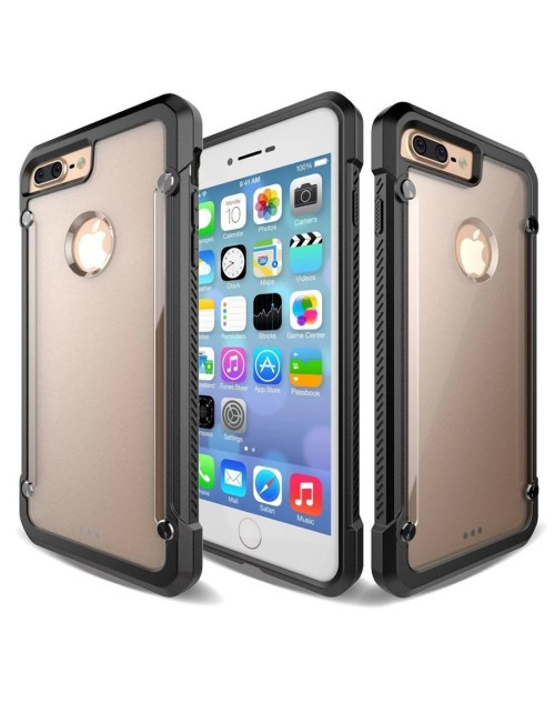 SUPCASE Armor Hard Phone Case For iPhone 5S Cover Clear Matte Back Shockproof Soft TPU Bumper Protective Case-Black