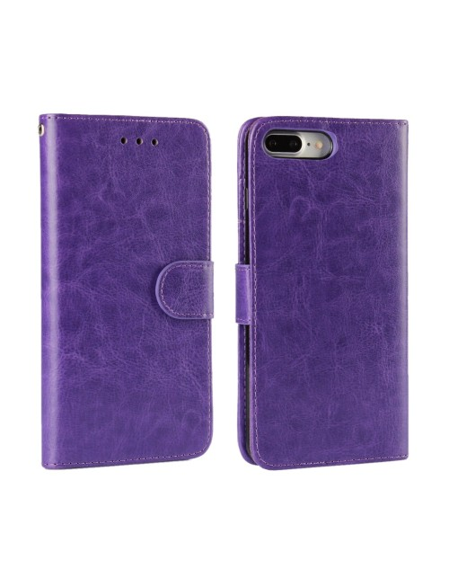 "Apple iPhone 7 4.7"" Phone Case PU Leather Wallet Card Slot Stand Magnetic Book Flip Cover-Purple"