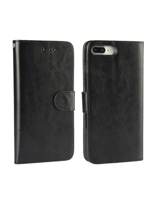"Apple iPhone 7 4.7"" Phone Case PU Leather Wallet Card Slot Stand Magnetic Book Flip Cover-Black"