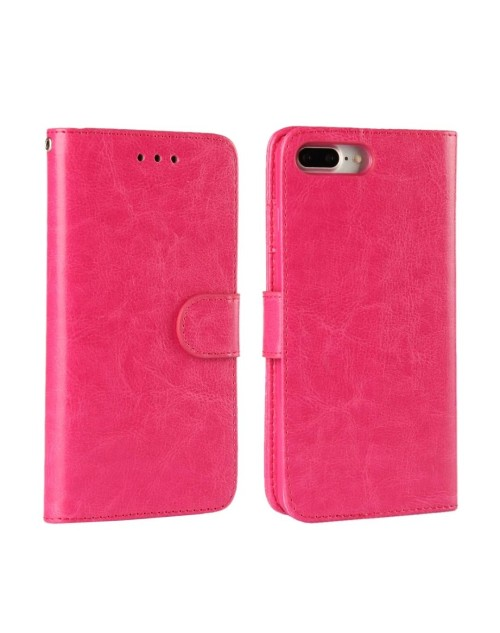 "Apple iPhone 7 4.7"" Phone Case PU Leather Wallet Card Slot Stand Magnetic Book Flip Cover-Pink"