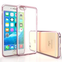 iPhone 7 Case Ultra Thin Electroplate TPU Gel Cover with Shock-Proof Bumper-Rose