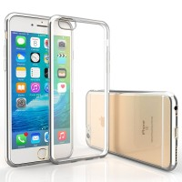 iPhone 7 Case Ultra Thin Electroplate TPU Gel Cover with Shock-Proof Bumper-Silver