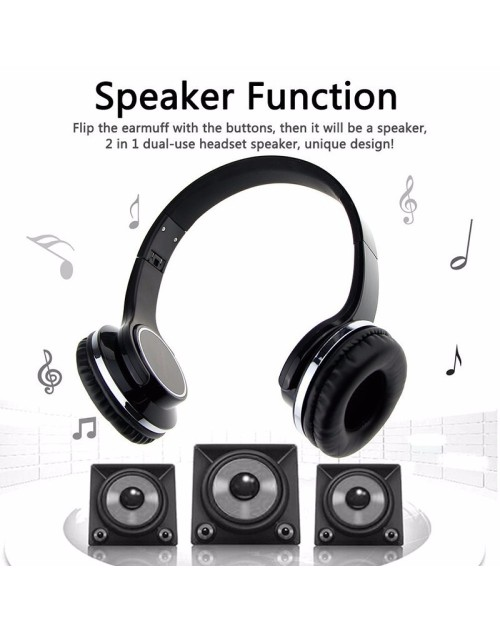 2 in1 Twist-out Speaker Bluetooth Headphones Speaker Headphones flip to Speakers