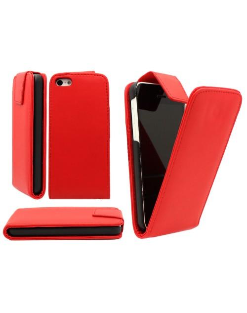 iPhone 6 Plus/6s Plus Pu cuir de cas de secousse Cover Plus Protecteur d'écran gratuit et Mini Stylus-Rouge