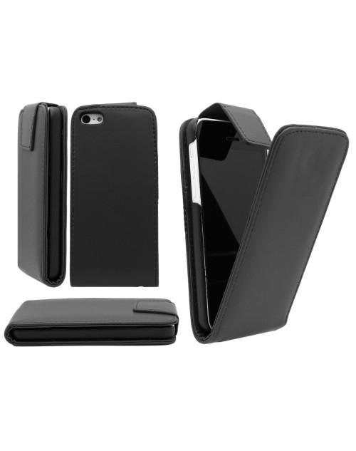 iPhone 6 Plus/6s Plus Pu cuir de cas de secousse Cover Plus Protecteur d'écran gratuit et Mini Stylus-Black