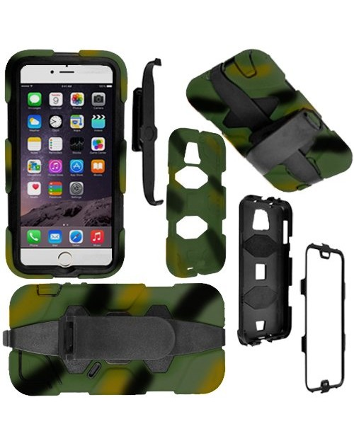 Samsung Galaxy S5 Heavy Duty Military Shockproof with built in shield Case-Camoflage