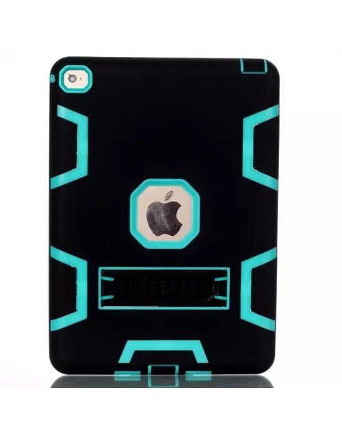 iPad Mini 1,2,3 Heavy Duty Shockproof Miltary Silicon Case Cover with Adjustable Positioning Stand-Green