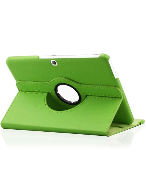 """Samsung Galaxy Tab 3/LTE SM-T110 7.0"""" 360 Rotaing Pu Leather with Viewing Stand Plus Free Stylus Case Cover-Green"""