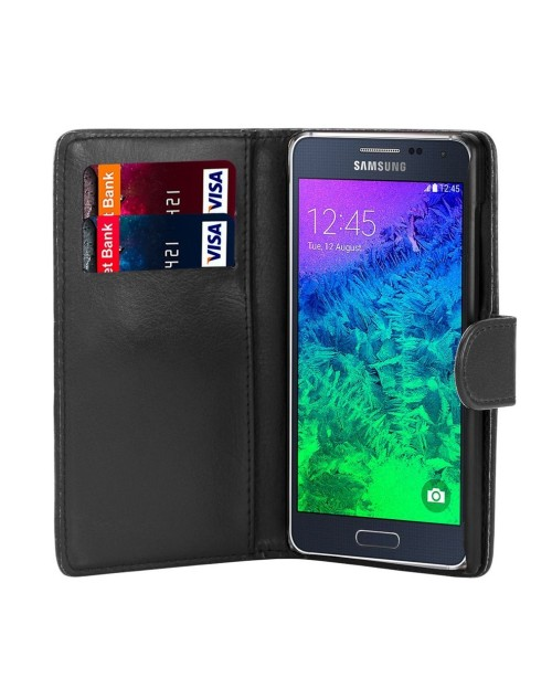 Samsung Galaxy Note  Pu Leather Book Style Wallet Case with free  Stylus-Black