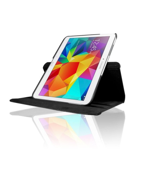 Samsung Galaxy Tab 3/LTE SM-T110 7.0-360 Rotating Pu Leather Case with Adjustable Viewing Stand-Black