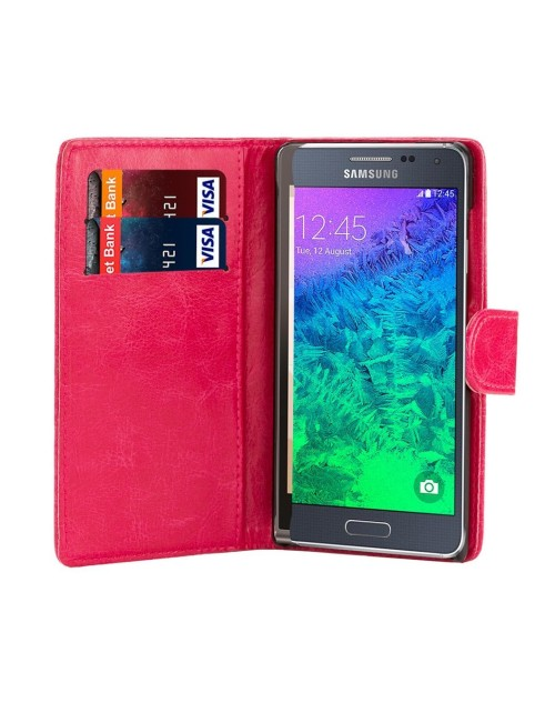 Samsung Galaxy Note Pu Leather Book Style Wallet Case with free  Stylus-Pink
