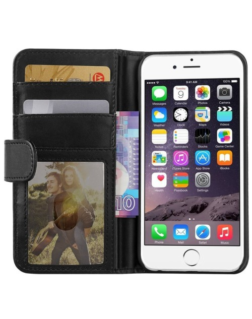 Apple iPod Touch 6 Pu Leather Book Style Wallet Case with free  Stylus-Black