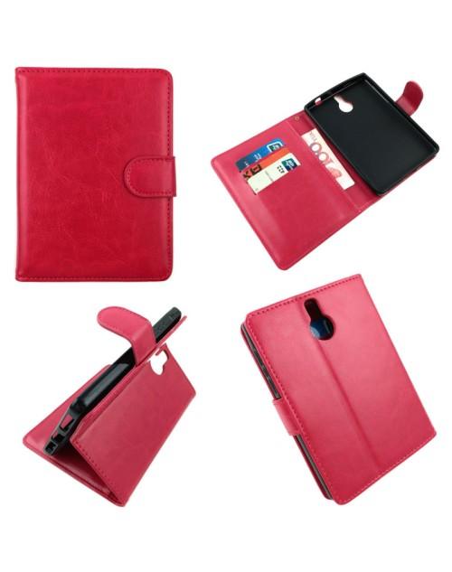 BlackBerry Passport Pu Leather Book Case Cover Plus  Mini Stylus-Pink