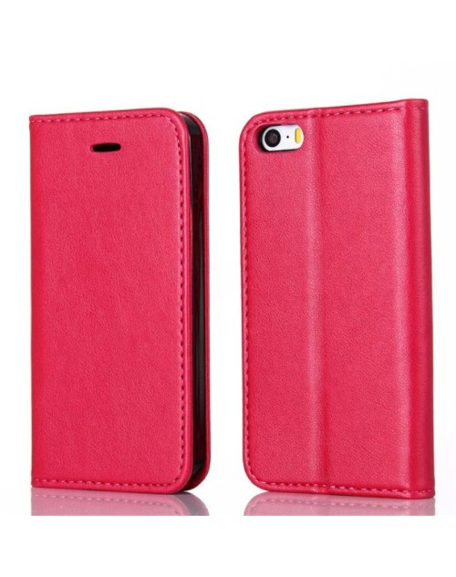 Apple iPhone 6S 6 Pu Leather Book Style Wallet Case with Mini Stylus Stylus-Red