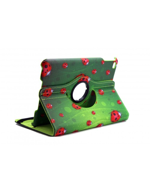Apple iPad 4 Printed 360 Rotaing Pu Leather with Viewing Stand Plus Free Stylus Case Cover for Apple iPad 4-Lady Bird