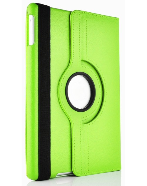 Apple iPad Air 2 360 Rotaing Pu Leather with Viewing Stand Plus Free Stylus Case Cover for Apple iPad Air 2-Green