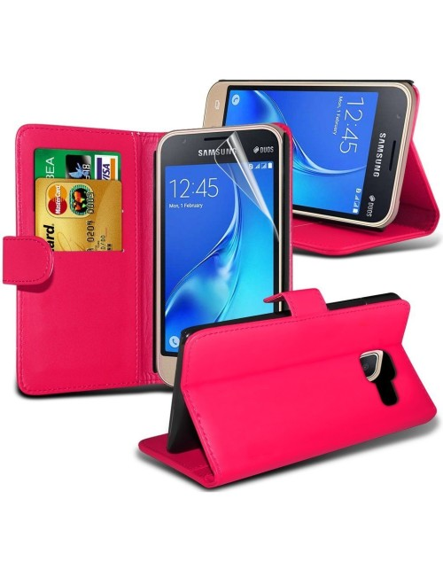 Samsung Galaxy A3 (Model 2016) Pu Leather Book Style Wallet Case with free  Stylus-Pink