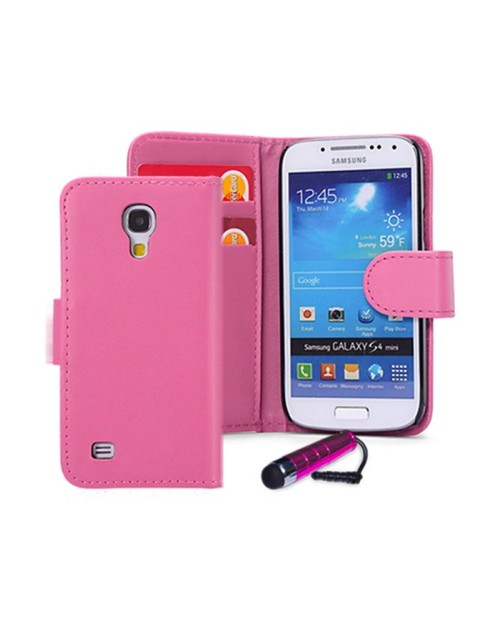 Samsung Galaxy S2 Pu Leather Book Style Wallet Case with free  Stylus-Pink