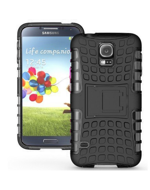 Samsung Galaxy Mini S5 Heavy Duty Military Shockproof Hard Back gripping Textured Case Black