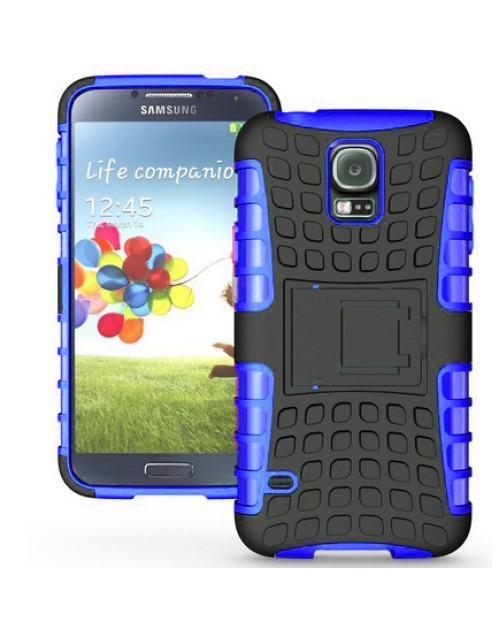 Samsung Galaxy Mini S5 Heavy Duty Military Shockproof Hard Back gripping Textured Case Blue