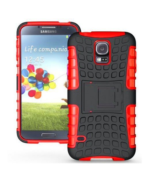 Samsung Galaxy Mini S5 Heavy Duty Military Shockproof Hard Back gripping Textured Case Red
