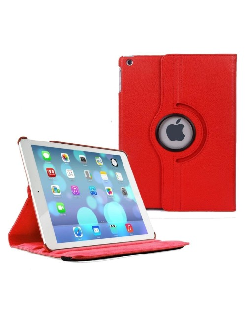 "Apple iPad Pro 12.9"" (2016) 360 Rotaing Pu Leather with Viewing Stand Plus Free Stylus Case Cover for Apple iPad Pro 12.9-Red"
