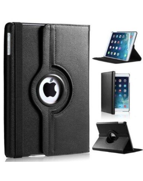 Apple iPad Air 2 360 Rotaing Pu Leather with Viewing Stand Plus Free Stylus Case Cover for Apple iPad Air 2-Black
