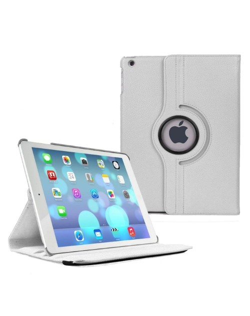 Apple iPad Mini 1/2/3 360 Rotaing Pu Leather with Viewing Stand Plus Free Stylus Case Cover-White
