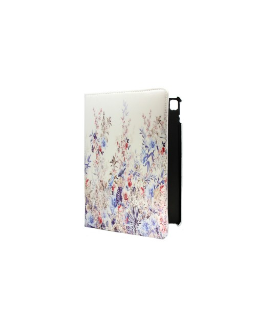 Apple iPad Air 2 Printed 360 Rotaing Pu Leather with Viewing Stand Plus Free Stylus Case Cover for Apple iPad Air 2-Rose Bushes