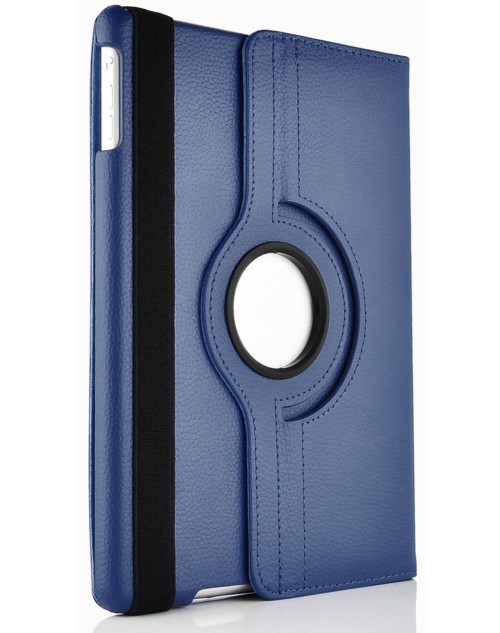 Apple iPad Air 2 360 Rotaing Pu Leather with Viewing Stand Plus Free Stylus Case Cover for Apple iPad Air 2-Dark Blue