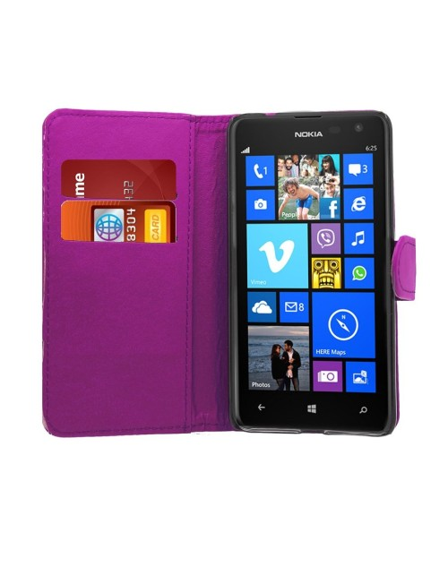 Microsoft Lumia 650 Pu Leather Book Style Wallet Case with free  Stylus-Purple